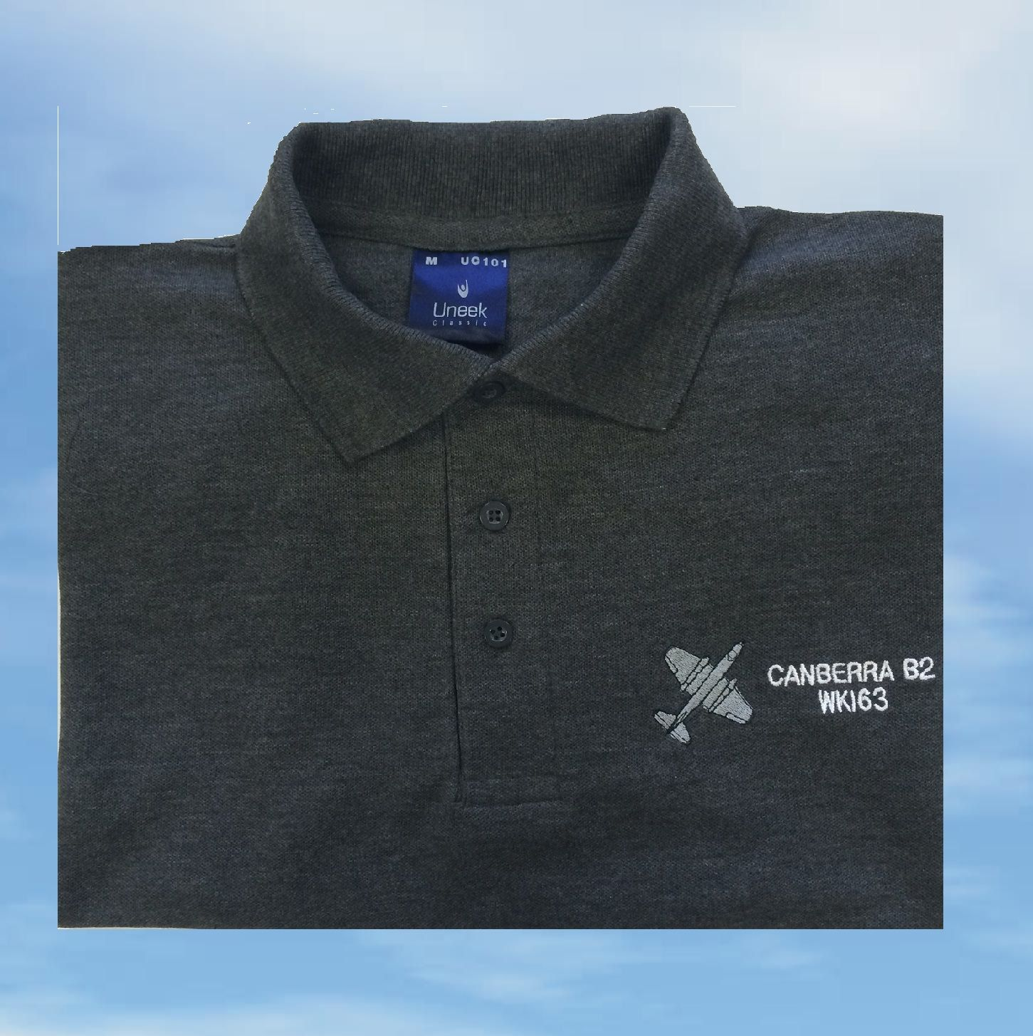 Polo shirt mid grey ee canberra
